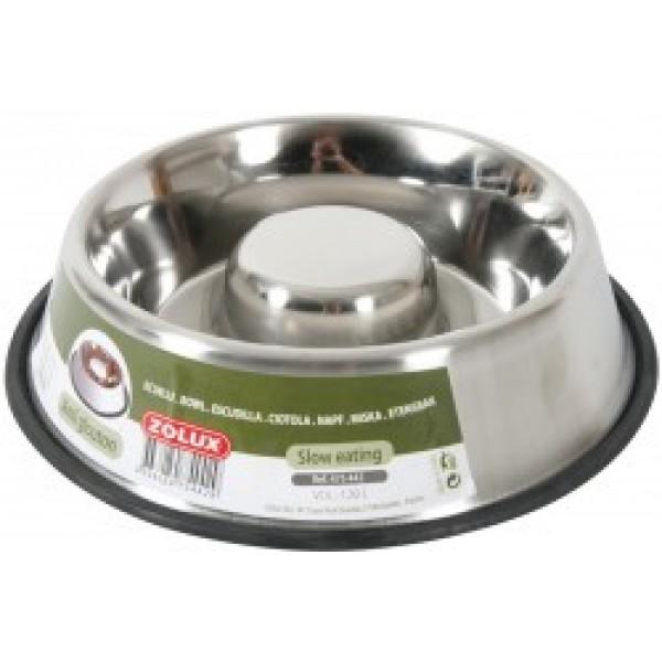 Zolux ciotola anti ingozzamento in acciaio for Mangiano il pastone