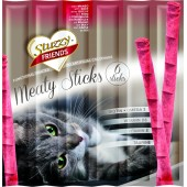 STUZZY FRIENDS CAT MEATY STICKS AL MANZO X6