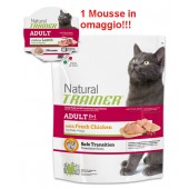 TRAINER NATURAL CAT ADULT POLLO FRESCO 300 GR + MOUSSE IN OMAGGIO