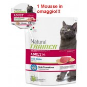 TRAINER NATURAL CAT ADULT CON TONNO 300 GR + MOUSSE IN OMAGGIO